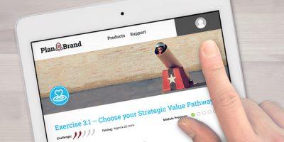 plan2brand brand strategy development FREE app learning